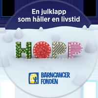 Barncancerfondens Julknapp 2016
