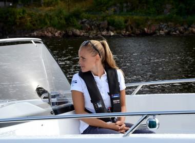 Gaby-i-båt